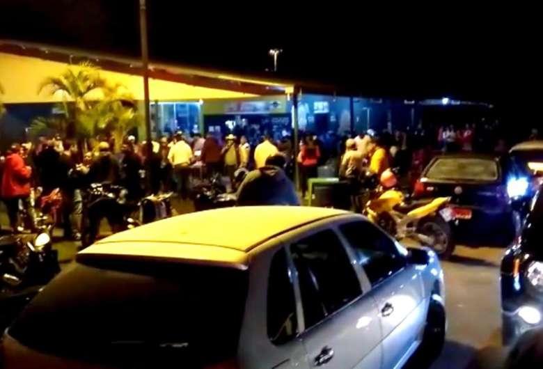 As duas aglomerações foram encerradas pela polícia - Crédito: Divulgação PMMS