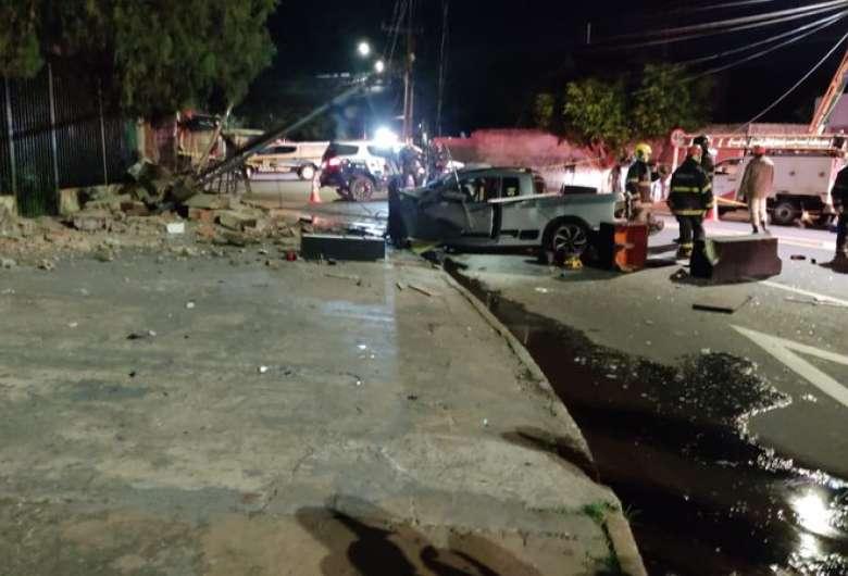 Acidente ocorreu na noite de ontem em Campo Grande - Crédito: Midiamax