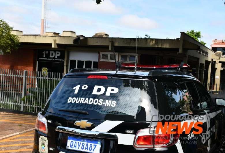 O autor foi levado para o 1° Distrito Policial e autuado em flagrante por lesão corporal - Crédito: Hedio Fazan/ Dourados News / Arquivo