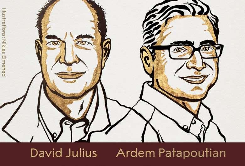 David Julius e Ardem Patapoutian - Crédito: Reprodução/Twitter Nobel Prize
