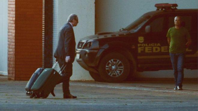 Deputado cassado foi preso preventivamente em outubro de 2016 e levado para a carceragem da PF em Curitiba / Foto: Agência Brasil