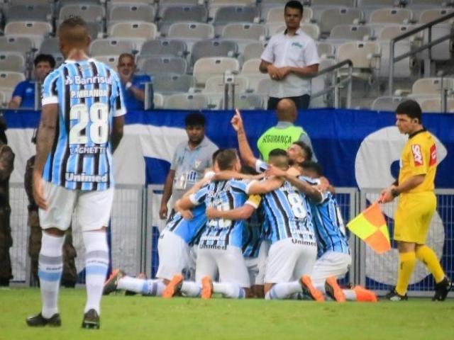 Grêmio ignorou o fator casa e, com gol do estreante André, começou o Brasileirão com vitória. (Foto: Grêmio FBPA/Divulgação)