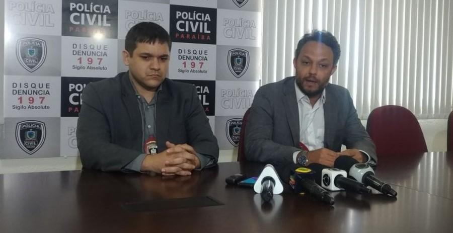 Delgados Lucas Sá (à esq) e Marcos Paulo Vilela estão à frente das investigações (Foto: Danilo Alves / TV Cabo Branco)