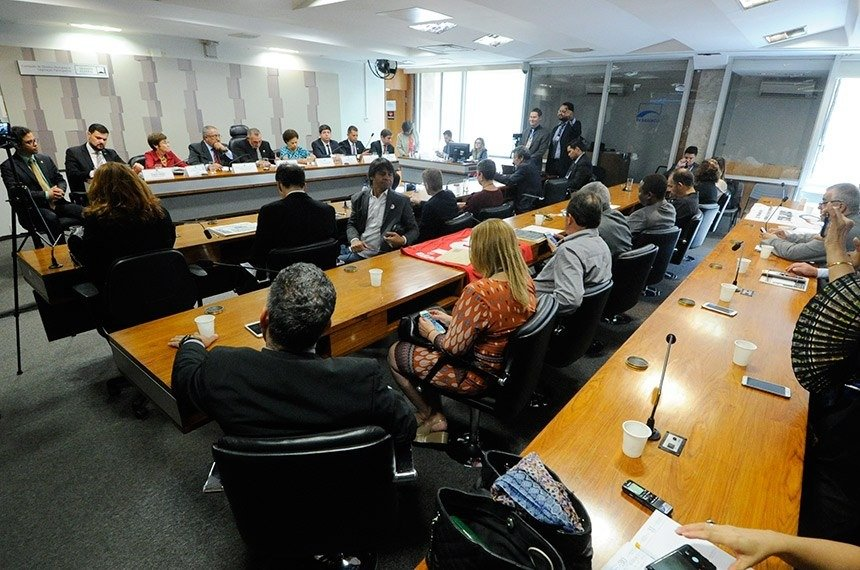 Na audiência pública, foi apresentada a Sugestão Legislativa (SUG 12/2018), que será relatada pelo senador Paulo Paim (PT-RS)Geraldo Magela/Agência Senado