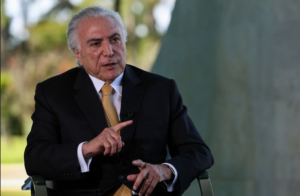 O presidente Michel Temer, durante entrevista à TV Brasil - Crédito: (Marcos Corrêa/PR)