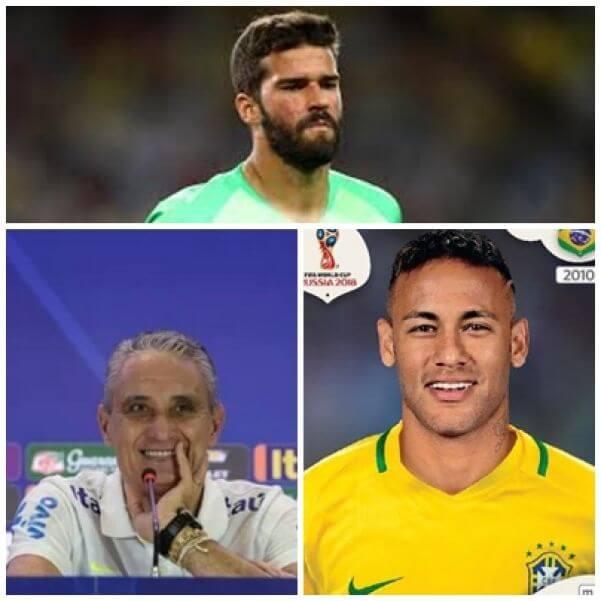 Tite, Alisson e Neymar - Fotos: internet/Facebook