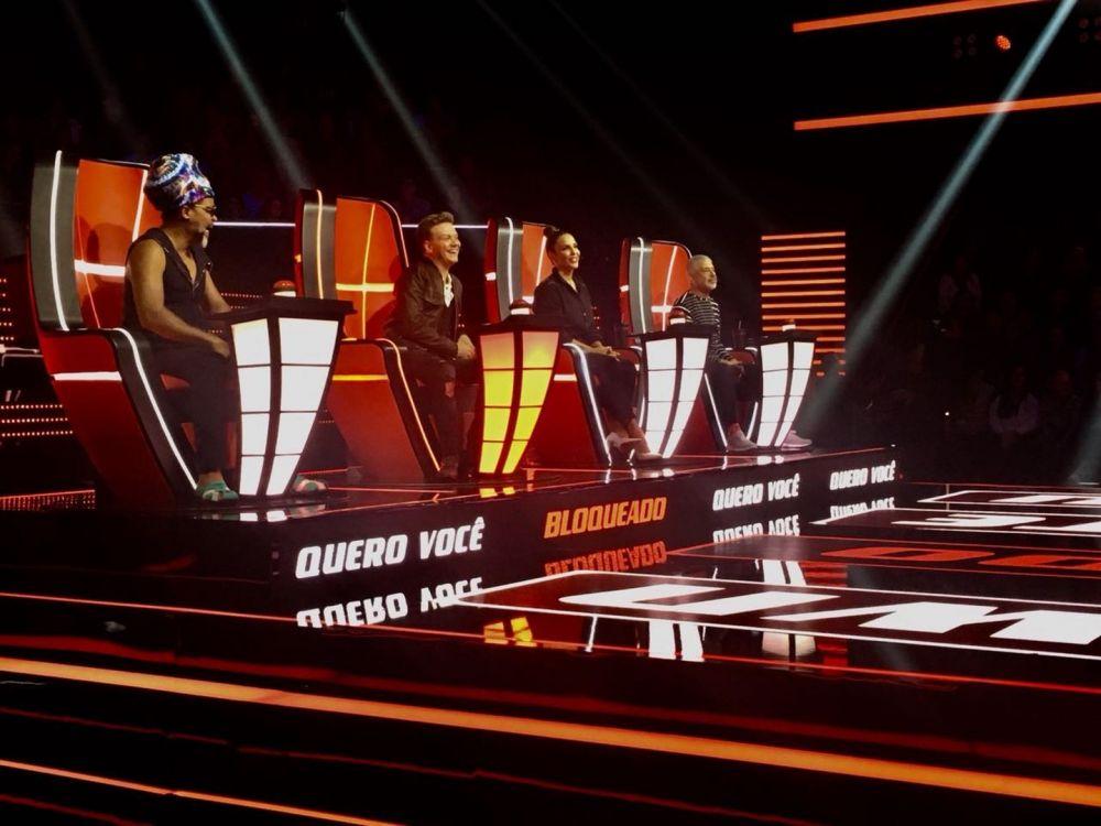 Carlinho Brown, Michel Teló, Ivete Sangalo e Lulu Santos participam de audição do 'The Voice Brasil' - Crédito: (Patricia Teixeira/G1)