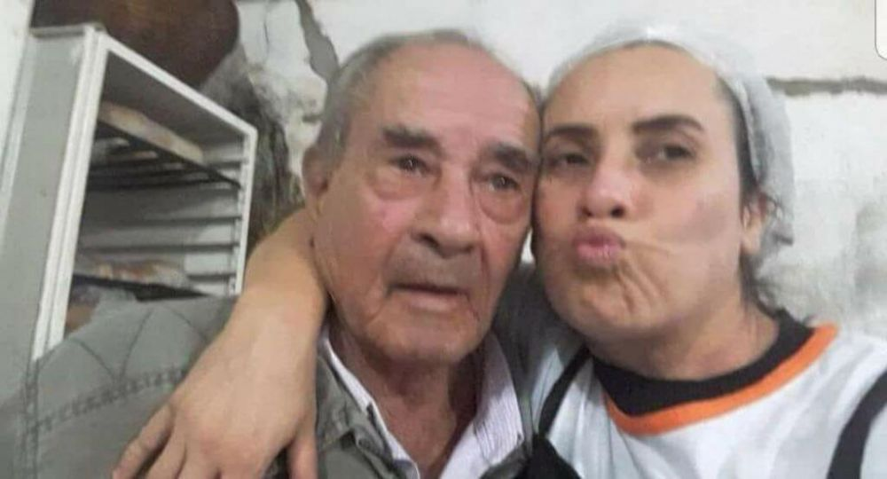 João David Vieira, 79 anos, e Adenilza Ferreira Davi Morales, 45 anos, pai e filha (Foto: reprodução/Facebook)