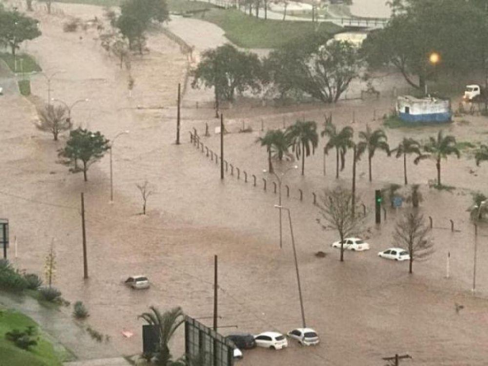 Chuva deixou Parque das Nações Indígenas alagado (Foto: Campo Grande News)