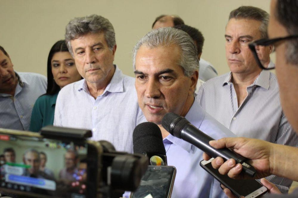 Governador Reinaldo Azambuja concedeu entrevista hoje na Capital - Crédito: Divulgação