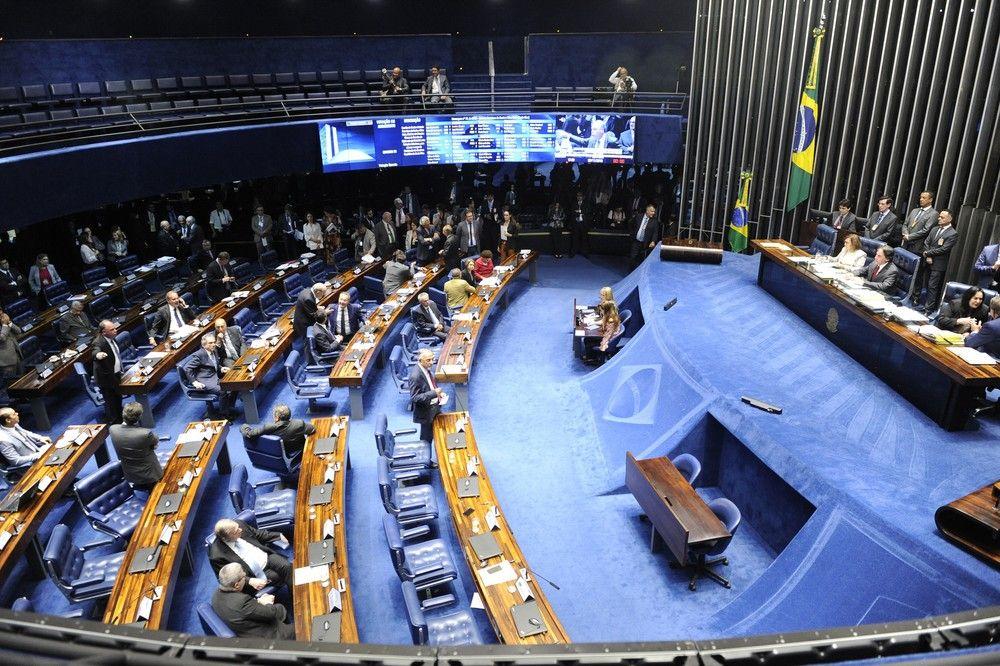 O plenário do Senado durante a sessão desta terça-feira (20) - Crédito: Jonas Pereira/Agência Senado