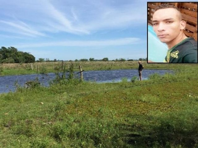 Represa onde Leandro morreu afogado - Crédito: (Reprodução / Nova News)