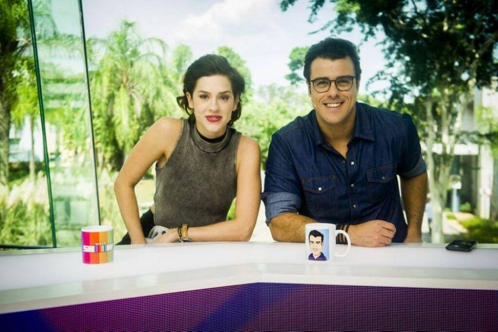 Sophia Abrahão e Joaquim Lopes, apresentadores atuais do 'Video Show' — Foto: Globo/João Miguel Júnior