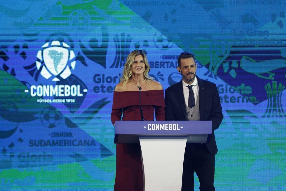 Sorteio da Libertadores ocorreu na noite desta segunda-feira - Crédito: EFE/Andrés Cristaldo