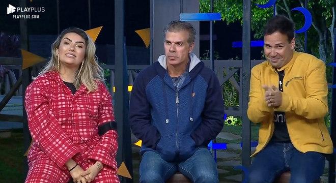 Thayse, Túlio e Viny estão na terceira Roça da temporada Record - Crédito: Reprodução