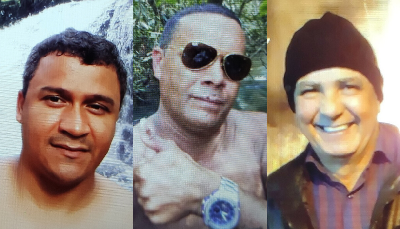 Anderson, Gilmar e Luiz estão desaparecidos. - Crédito: Divulgação/Polícia Civil